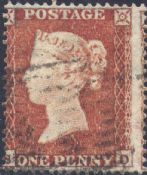 1854 1d Red SG17 Plate 171 'SD'